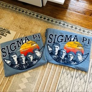 BUNDLE of 2 sigma pi short sleeve t-shirt
